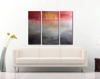 Good Modern Office Art Abstract Painting Large Triptych Paintings Acrylic  Painting Canvas Abstract Large Office Wall Decor