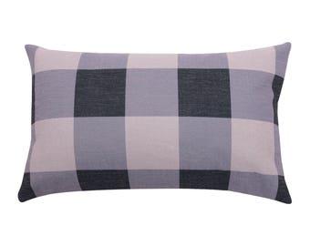 Buffalo Check lumbar pillow covers Plaid decorative pillow cases Ethnic waist cushion cover Rustic cushion case Sofa home decor gift 12x20