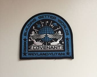 Alien Covenant Weyland Yutani Building Better Worlds Embroidered Patch (Iron On)