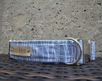 Blue Cityscapes Dog Collars