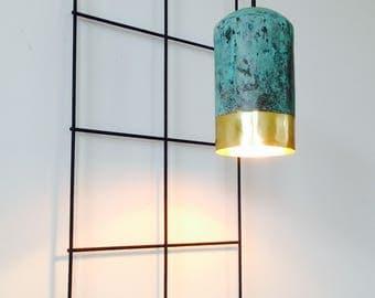 TISJA oxidized brass lighting, Brass Tega