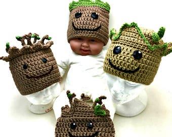 Crochet Groot Hat *PATTERN ONLY*