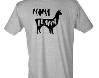 Mama Llama Funny Graphic T-Shirt Women Anna Dewdney
