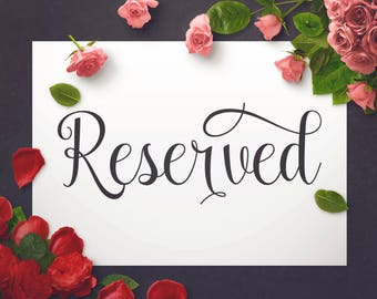 Reserved Sign Wedding Seating Chair