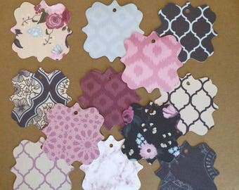 24 - 2.7 inch  Tag Die Cuts -Favor Tags  - Gift Tags   T62