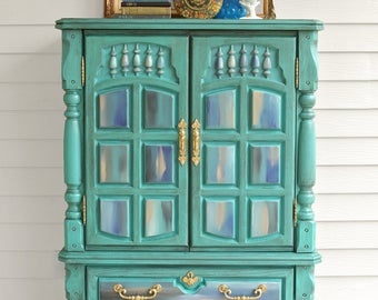 Boho Retro Armoire Dresser Nursery Decor Boutique Storage
