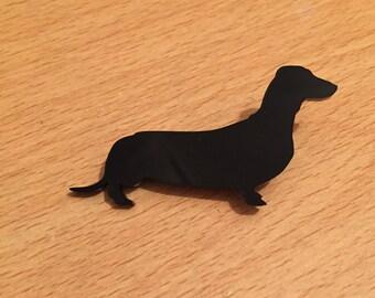 Handmade Dachshund/Weiner Dog Brooch in Black