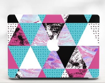 Macbook Case Geometry Macbook Cover Case Macbook Pro Hard Case Macbook 15 Case Marble Macbook Case Air 11 Case Macbook Air 13 Case touch bar