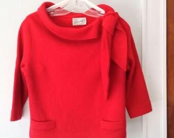 1960s Red Glasgo LTD Sweater
