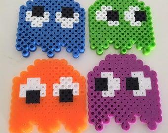 Pacman Perler Bead Magnets