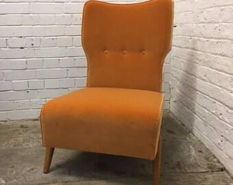 Orange Velvet Cocktail chair
