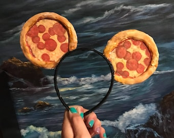 Minnie Mouse inspired Pizza disney ears