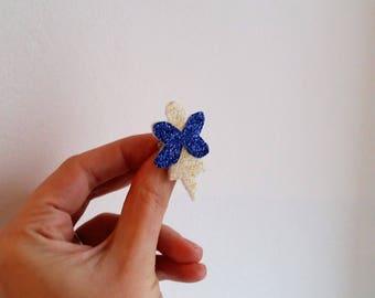 Broche papillon fée