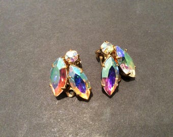 Stunning AB Clip Earrings