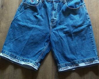 90s Vintage Tommy Hilfiger Denim Shorts