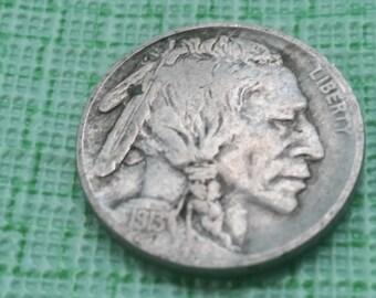 1913 Buffalo nickel  Variety  1.  # 415 Old US coin
