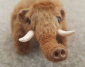 OOAK Miniature Mammoth Poseable Art Doll Realistic Stuffed Animal Animal Doll Poseable Plush Animal Soft Sculpture