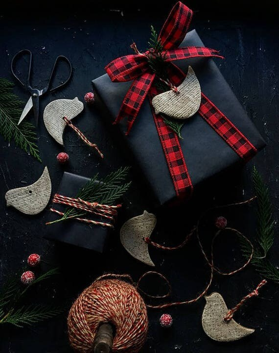 White Speckled Bird Ornament