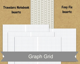 A6 insert TN insert, graph paper planner insert, printable planner insert