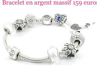 bracelet in 925 sterling silver charms