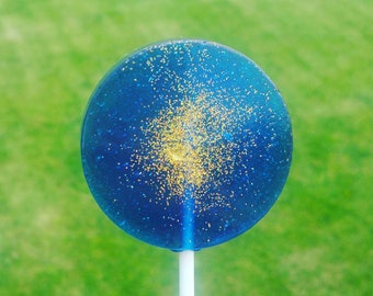 Navy Blue and Glitter Lollipops, Wedding favors, Wedding gifts, party favors, Set of 10, 2 1/4 inch across,