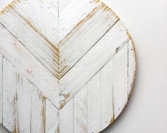Geometric Wood Wall Decor Round