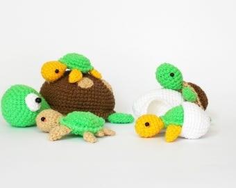 crochet pattern turtle amigurumi / crochet turtle / amigurumi animals / amigurumi turtle /