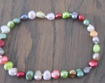Elastic Bracelet Freshwater Pearls