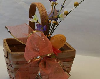 "Small Gift Basket  ""PEACH SORBET 1"" - rectangle"