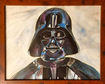 Original Darth Vader Painting by D4bblz