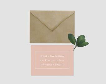 DIGITAL DOWNLOAD | Valentine's Day Card | Kiss Your Face | Cheeky