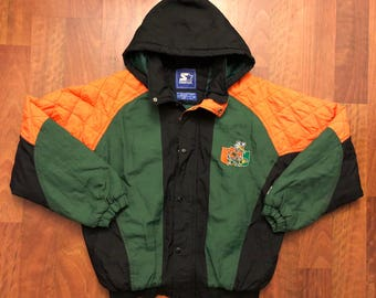 Vintage University of Miami Hurricanes Starter Jacket Size Medium The U