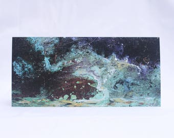 Stormy Waters: Limited Edition Fine Art Card of Original Copper Painting by Jessica Elleray