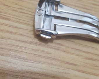 20mm NEW High Quality polished Stainless steel Deployment Clasp Omega seamaster watch