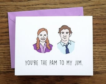 Love Card | INSTANT DOWNLOAD DIY | The Office | Jim | Pam | Greeting | Funny | Anniversary | Birthday | Wedding | Printable | Digital pdf