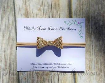 Glitter Bow Headband