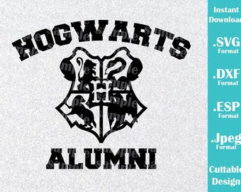 INSTANT DOWNLOAD SVG Inspired Harry Potter Hogwarts Alumni for Cutting Machines Svg, Esp, Dxf and Jpeg Format Cricut Silhouette