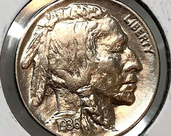 1936 P Buffalo Nickel - Choice BU / MS / UNC