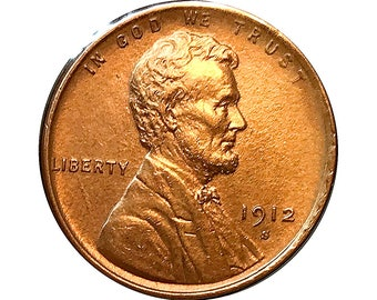 1912 S Lincoln Wheat Cent - Gem BU / MS RD / Unc