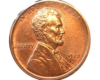 1915 D Lincoln Wheat Cent - Gem BU / MS RD / Unc