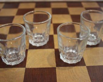 Vintage set of shot glasses (quantity 4)