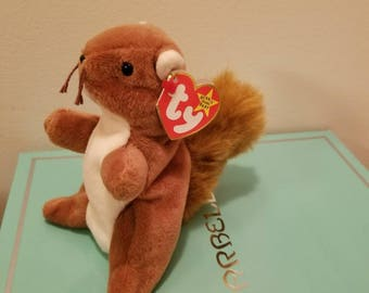 "Ty beanie baby squirrel ""Nuts"""""