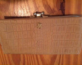 Lady Buxton Tan Aligator Purse