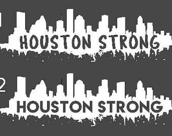 Houston Strong Decal l Houston Decal l Houston Strong l Texas Strong l Hurricane Harvey Donation l Hurricane Harvey Fundraiser