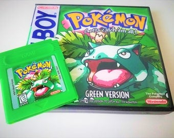 Pokemon Green English Version w/ Case - Nintendo Game boy gbc gba (Custom Fan Made English Translated) Gameboy