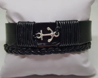 "Leather bracelet for men ""Mediterranean"""