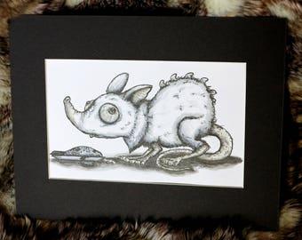 Little Fish Biter (Original Artwork)