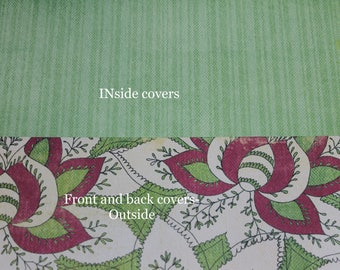 Custom Planner Cover, Happy planner cover, ARC cover, Discbound:Spring, flowers, green