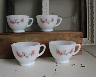 Fire King Tea Cups- 4 Set