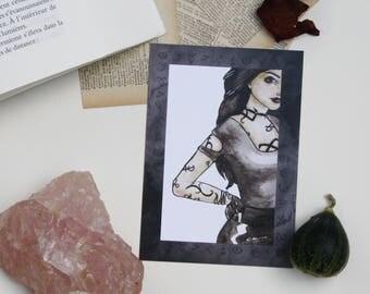 """Illustration """"Isabelle"""" A6 card"""